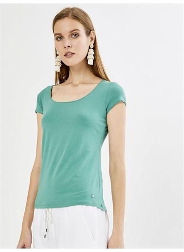 Xint XINT U Yaka Modal Basic Tişört Yeşil